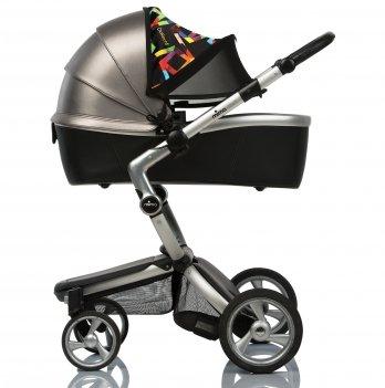 Солнцезащитный козырек на коляску ДоРечіDouble Shade ГеометрияЧерный1833G