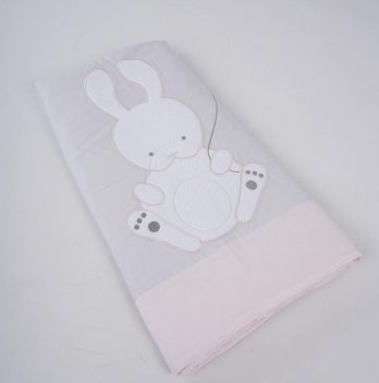Одеяло-плед ТМ Sasha, серо-розовое