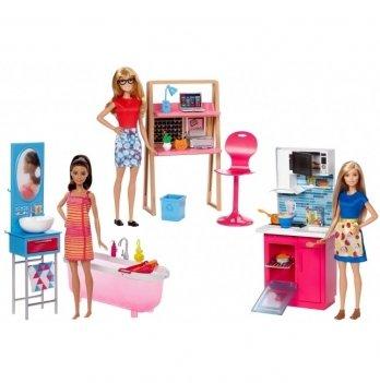 Набор мебели с куклой, Barbie