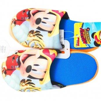Тапочки-шлепанцы Disney Микки и веселые гонки, синие