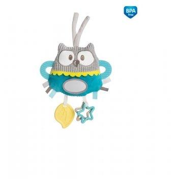 Игрушка мягкая с подвеской для коляски/кроватки Canpol babies Pastel Friends Бирюзовый 68/065
