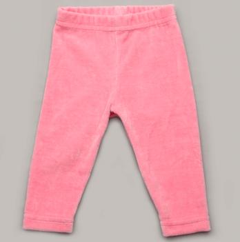 Лосины Модный карапуз, велюровые, ярко-розовые