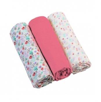 Пеленки муслиновые BabyOno розовые, 3 шт.
