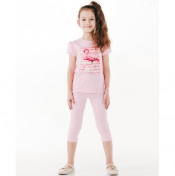 Лосины 3/4 для девочки Smil от 7 до 10 лет розовые