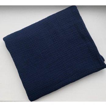Муслиновая пеленка Embrace синяя