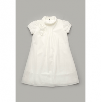 Платье нарядное Модный карапуз, бархат, молочное