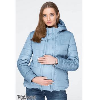 Куртка демисезонная для беременных MySecret, серо-голубая