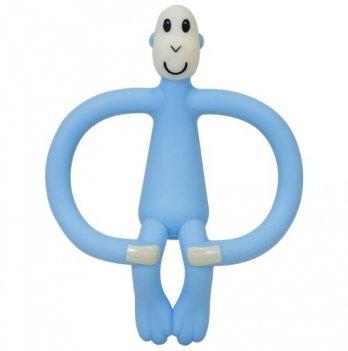 Игрушка-прорезыватель Matchstick Monkey Обезьянка, 10,5 см, голубая