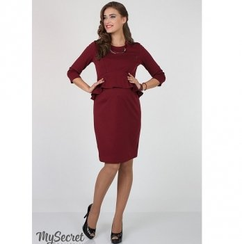Платье изысканное для беременных и кормящих мам MySecret Catherine DR-36.182 марсала