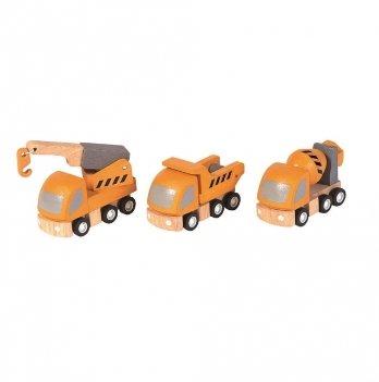 Деревянный набор машинок PlanToys® Дорожно-ремонтные машины
