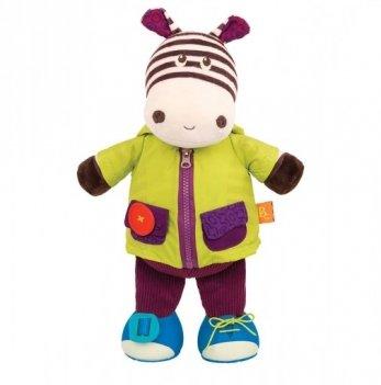 Интерактивная мягкая игрушка серии Крошки-застежки - Зебра Battat BX1692Z