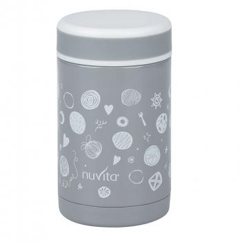 Термос металлический для еды Nuvita, 500мл, серый