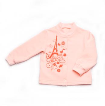 Кофточка для новорожденной девочки Модный карапуз, персиковая