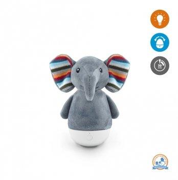 Слоненок ночник тумблер неваляшка Елли Zazu ZA-ELLI-01