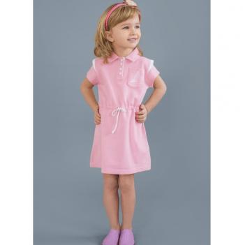 Платье для девочки Модный карапуз, с канатиком, розовое