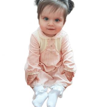 Платье для девочки SMIL, возраст от 2 до 6 лет, розовое в горошек