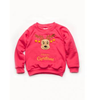 Свитшот для девочки Модный карапуз Merry Christmas