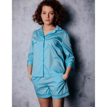 Пижама с шортиками женская Рjmood Тиффани мятная