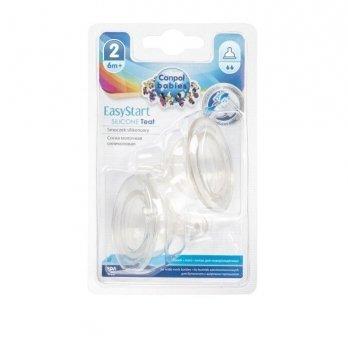 Соска силиконовая мини для бутылочки с широким горлом EasyStart Canpol babies поток средний 6+ мес 21/731