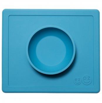 Коврик тарелка EZPZ Happy Bowl Голубой