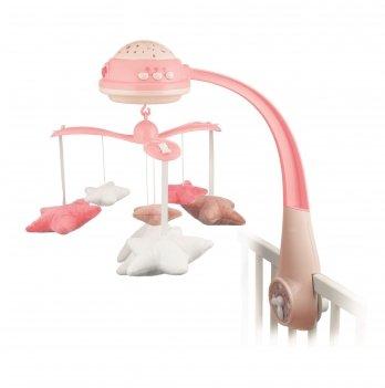 Карусель музыкальная электрическая с проектором Canpol babies Розовый 75/100