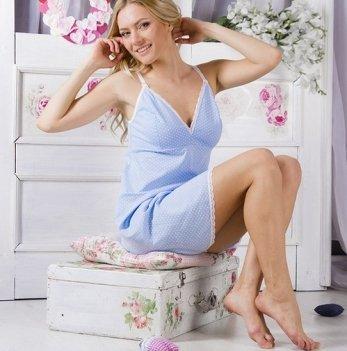 Ночная сорочка для беременных и кормящих мам DISSANNA 1003
