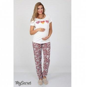 Брюки для беременных MySecret Sydney TR-27.072 красно-белый
