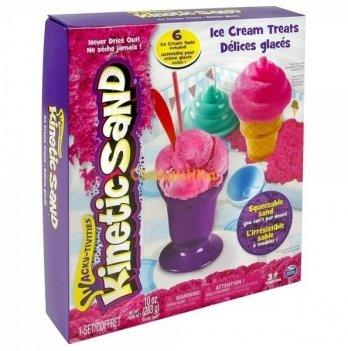 Песок для детского творчества Wacky-Tivities Kinetic Sand  Ice Cream (розовый, формочки, 383 г)