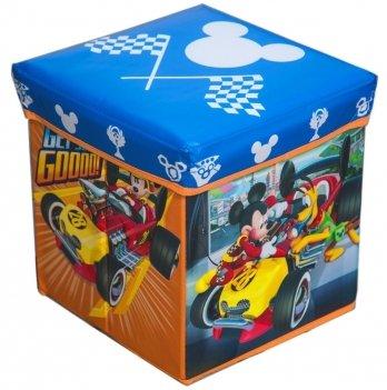 Коробка-стул для игрушек Arditex Микки и веселые гонки, голубой