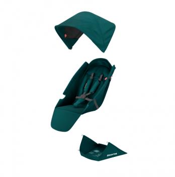 Текстильный комплект для сиденья коляски Greentom Upp Classic F бирюзовый