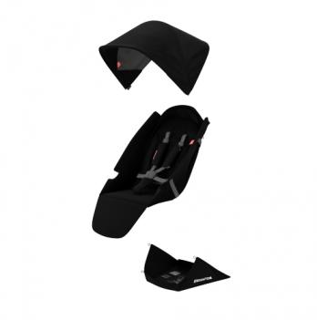 Текстильный комплект для сиденья коляски Greentom Upp Classic F черный