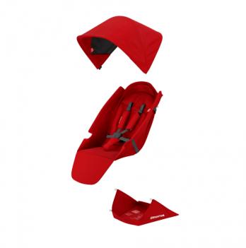 Текстильный комплект для сиденья коляски Greentom Upp Classic F красный