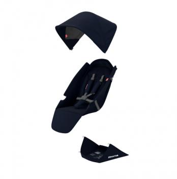 Текстильный комплект для сиденья коляски Greentom Upp Classic F синий