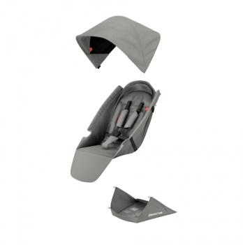 Текстильный комплект для сиденья коляски Greentom Upp Classic F серый