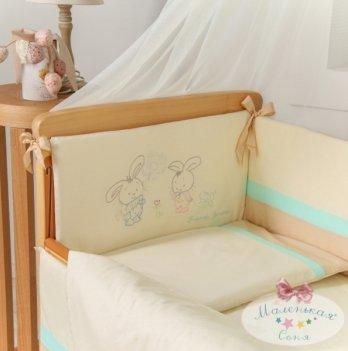 Защита для кроватки в комплект Funny Bunny шоколадный Маленькая Соня