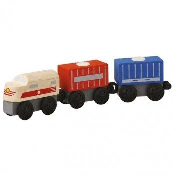 Деревянная машинка PlanToys® Грузовой поезд