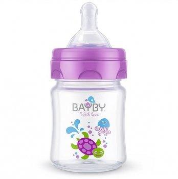 Бутылочка для кормления Bayby, 120ml, 0м+, фиолетовая