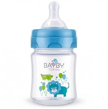 Бутылочка для кормления Bayby, 120ml, 0м+, синяя