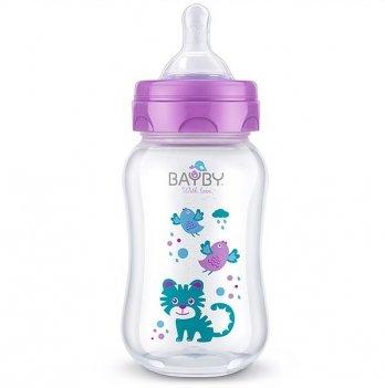 Бутылочка для кормления Bayby, 250ml, 0м+, фиолетовая