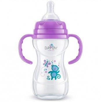 Бутылочка для кормления Bayby, 240ml, 6м+, фиолетовая
