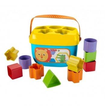 Ведерко-сортер с кубиками Fisher- Price Яркое