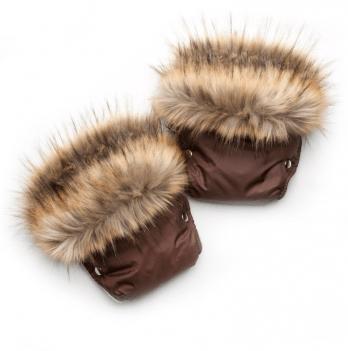 Рукавички для коляски/санок Модный карапуз, коричневые