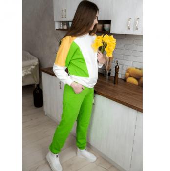 Костюм для беременных и кормящих мам Tariva Cotton 00041 зеленый