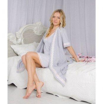 Комплект для беременных и кормящих мам DISSANNA ночная сорочка и халат, 1006/2006