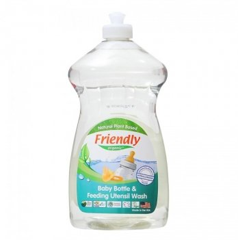 Средство для мытья детской посуды (бутылок, сосок) Friendly Organic  Baby Bottle&Feeding Utensil Wash F. Free, 739 мл