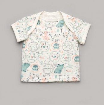 Футболка для малышей Модный карапуз Котики 303-00037 белый