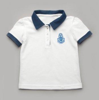 Футболка-поло для девочки Модный карапуз Белый 03-00729