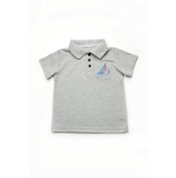 Футболка-поло для мальчика Модный карапуз Серый 03-00883
