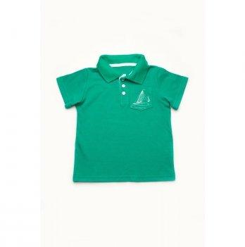 Футболка-поло для мальчика Модный карапуз Зеленый 03-00883