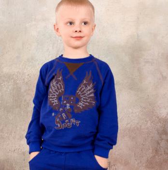 Реглан для мальчика Модный карапуз Крылья, ультрамарин
